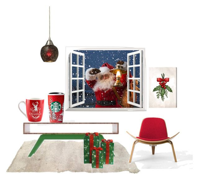 """""""Santa Claus is coming"""" by pamela-802 on Polyvore featuring interior, interiors, interior design, home, home decor, interior decorating, Eastvold Furniture, Rove Concepts, ELK Lighting and Oliver Gal Artist Co."""