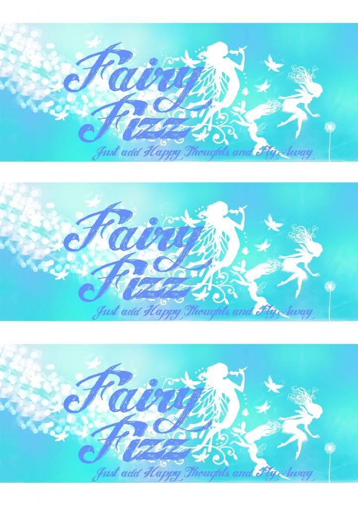 Fairy Fizz Soda Bottle printable labels