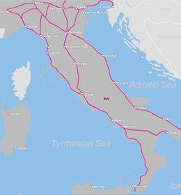 trenitalia network map