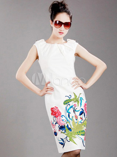 #Milanoo.com Ltd          #Vintage Dresses          #Classic #White #Cotton #Uiscose #Embroidery #Womens #Piece #Dress            Classic White Cotton Uiscose Embroidery Womens One Piece Dress                                          http://www.seapai.com/product.aspx?PID=5718794