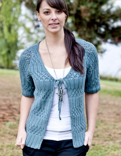FREE PATTERN by Fiona Ellis, Venezia Worsted, Lace and Rib Top, from ...