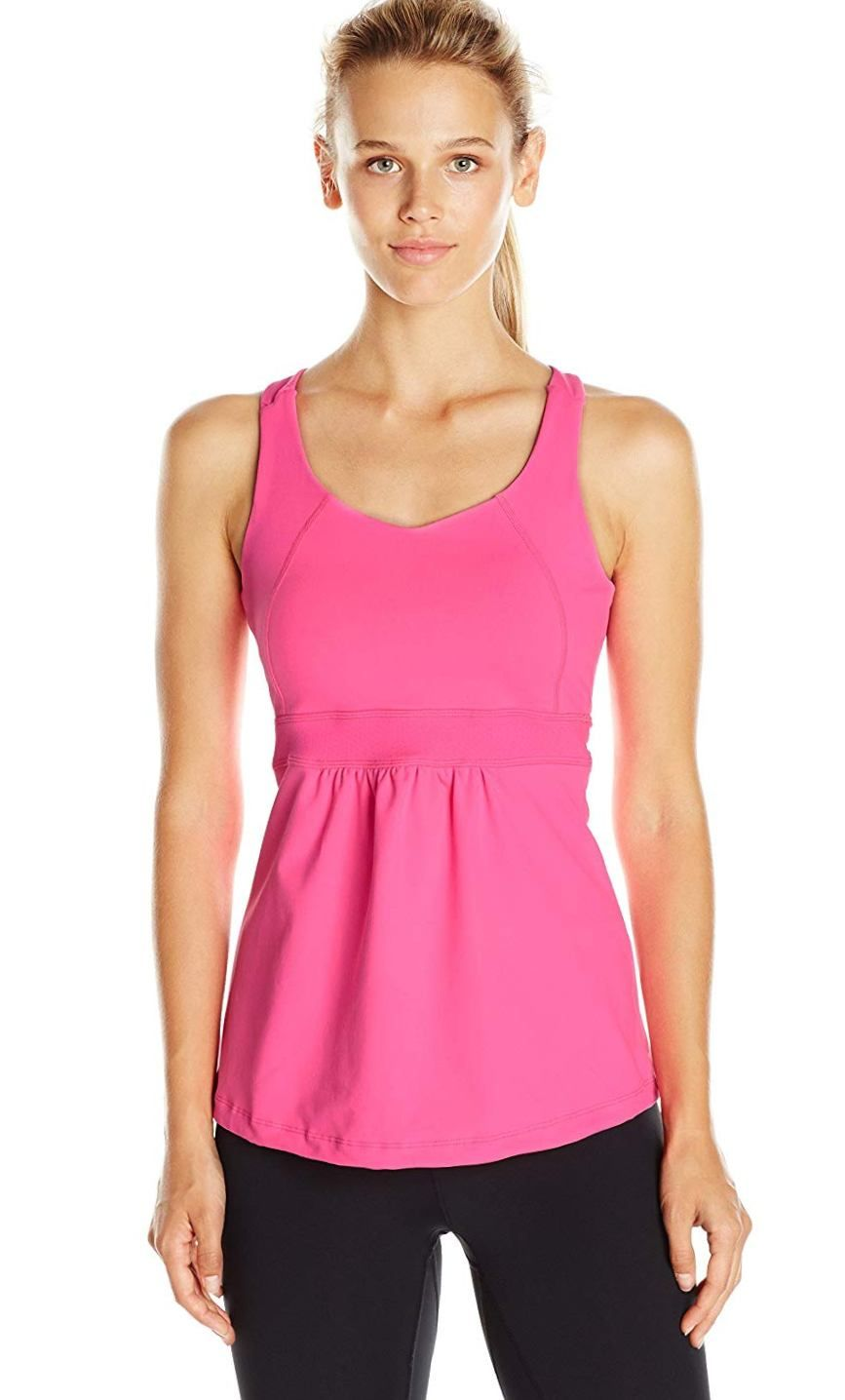 a7a86cb15a4 Colosseum Coral Way Tank Top With Built In Bra: Racerback with ...