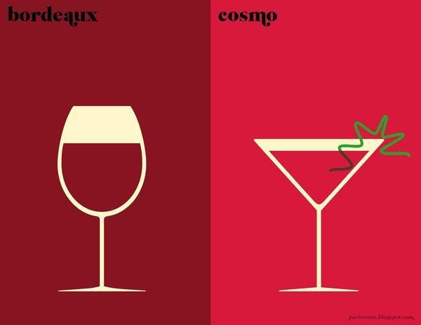 Top 14 des petites comparaisons Paris VS New-York illustrées