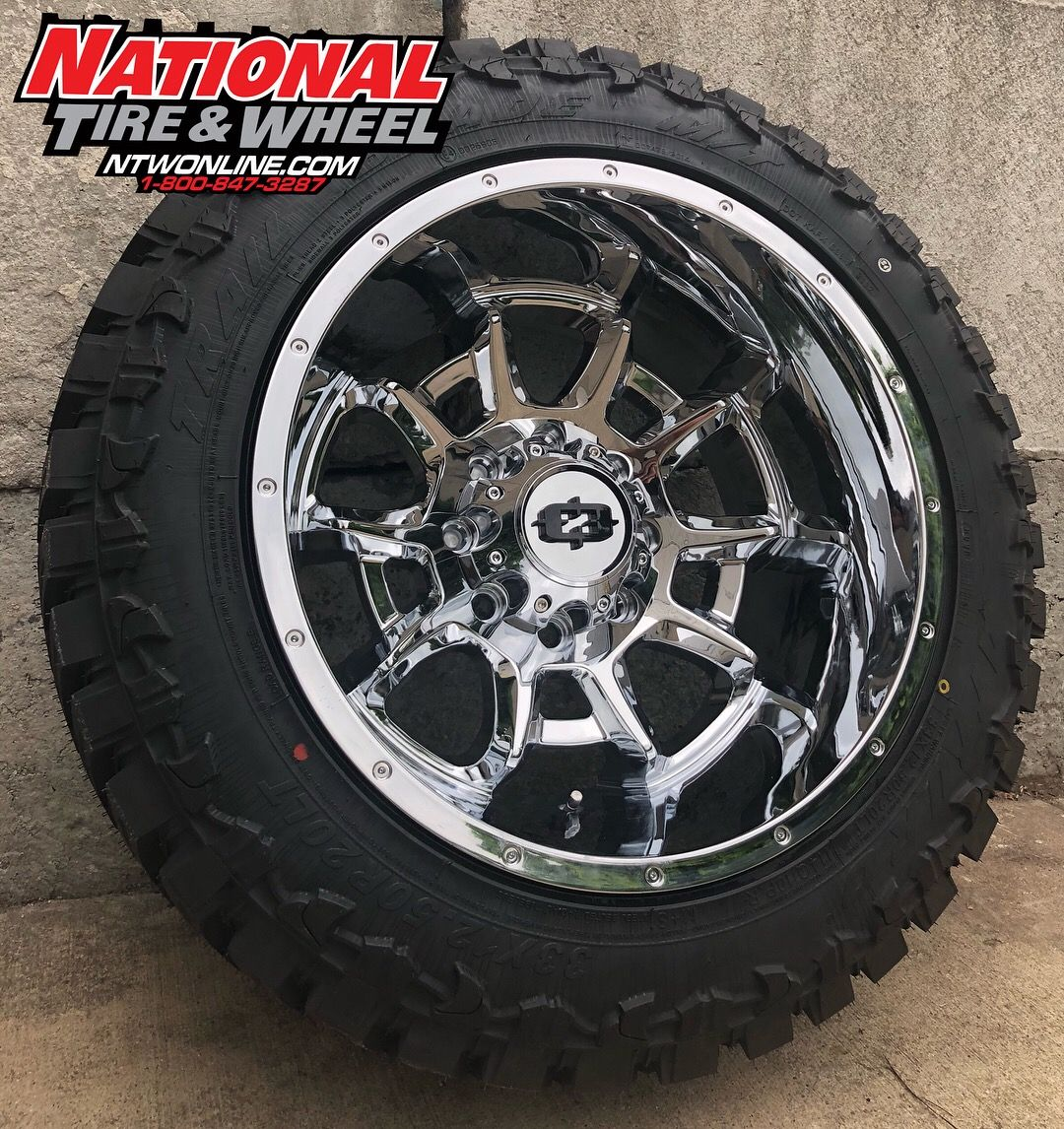 National Tire And Wheel >> 20x12 Vision Wheel Bomb Mounted Up To A 33x12 50r20 Atturo