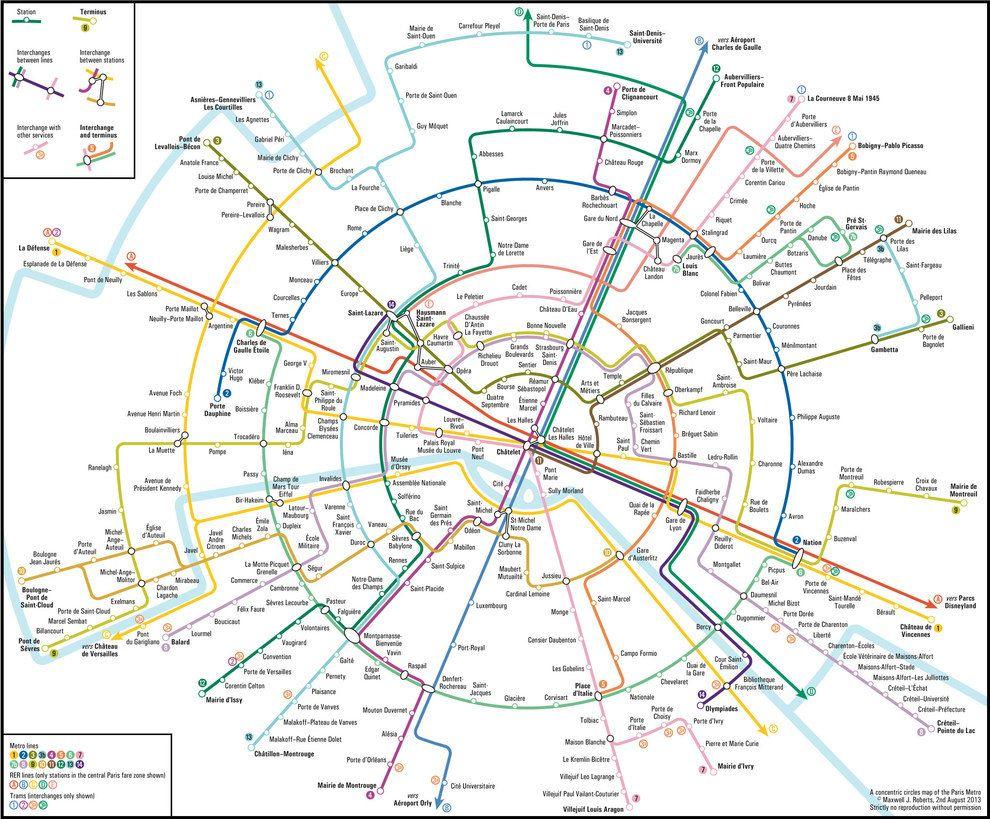 Une Carte Circulaire Du Metro Parce Que C Est Joli Subway Map