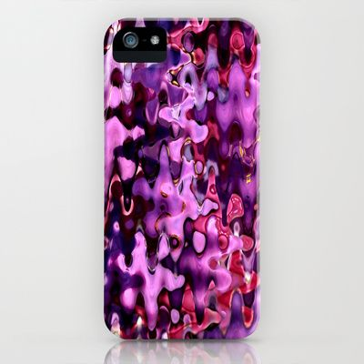Purple waves iPhone & iPod Case by Guna Andersone - $35.00 bright colors, great accent in your iphone