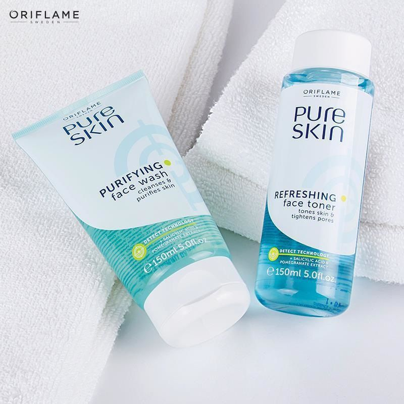 Face Wash And Face Toner Oriflame Beauty Products Toner For Face Pure Products