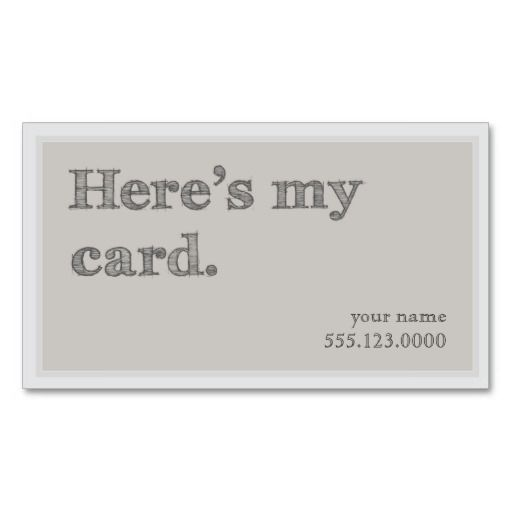 Cool heres my card networking groupon pinterest business cool heres my card networking groupon double sided standard business cards pack of 100 colourmoves