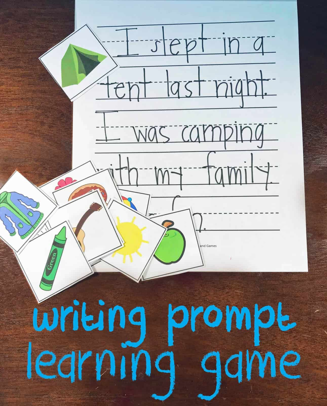 Free Picture Writing Prompt Learning Game