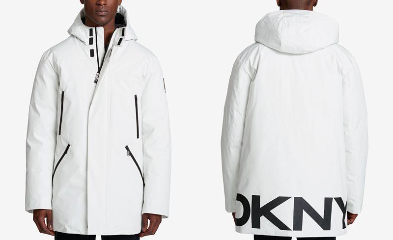 7ab2fb2b734b0 DKNY Men's Hooded Logo Parka - Coats & Jackets - Men - Macy's ...