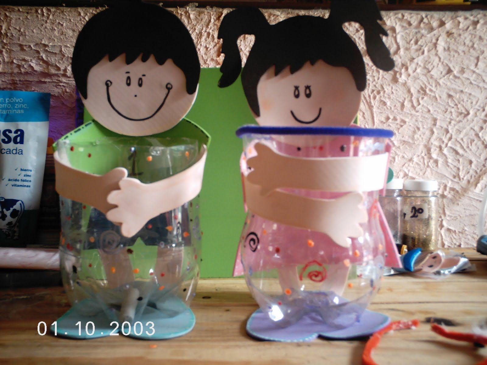 Las Creaciones de Betita: Dulceros con botellas pep.   recyklácia ...
