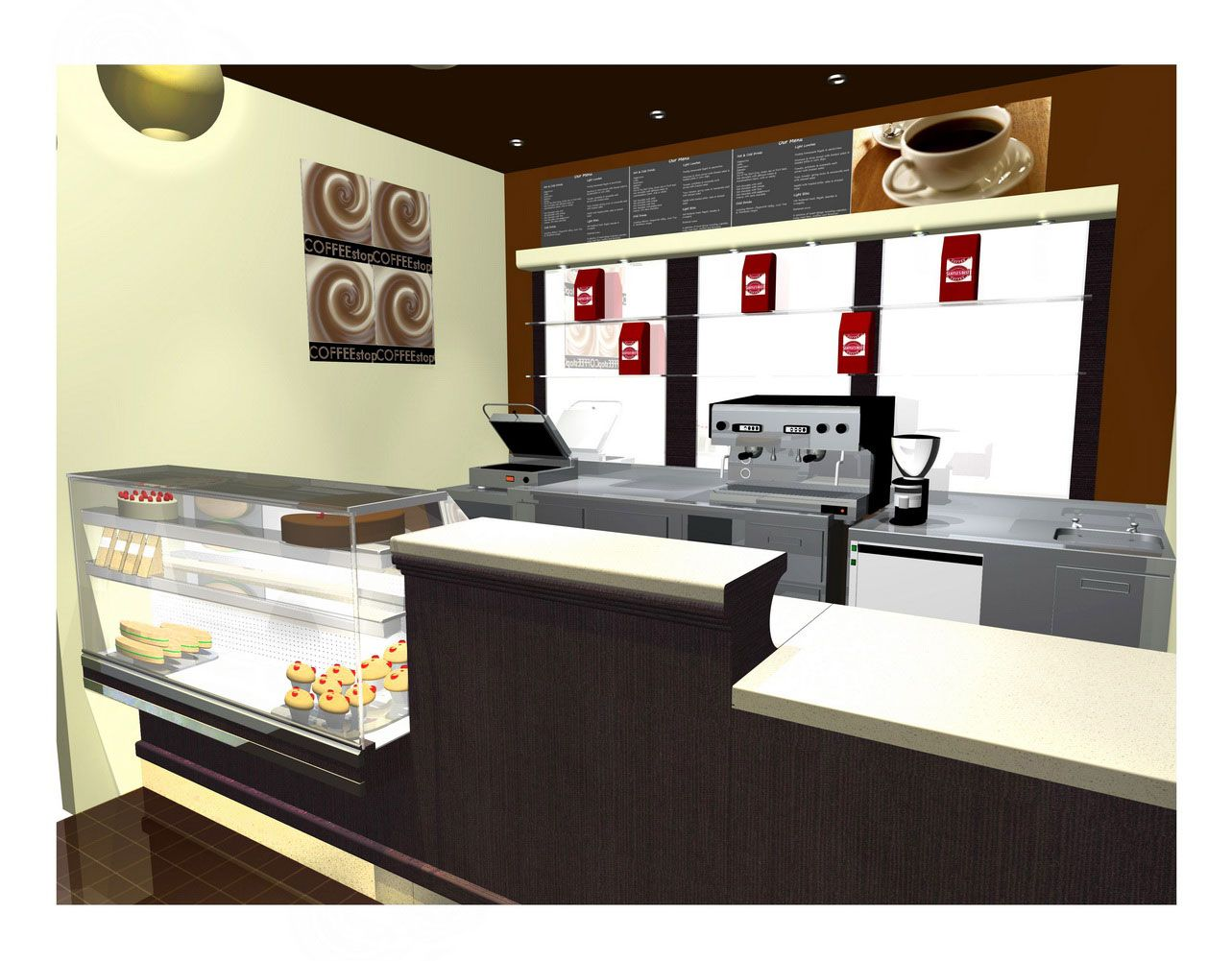 Coffee shop design ideas coffee shop design ideas for Coffee shop kitchen designs