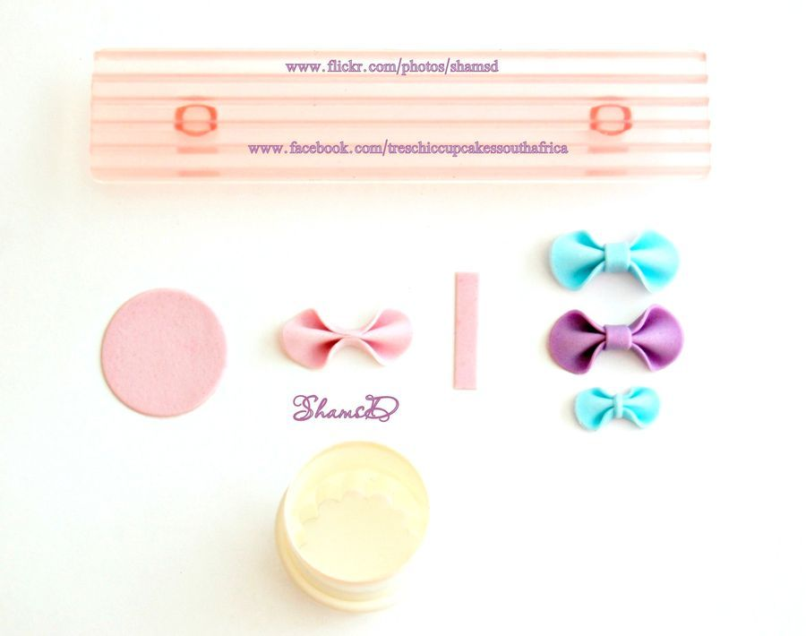 Easy Fondant Bow Pictorial