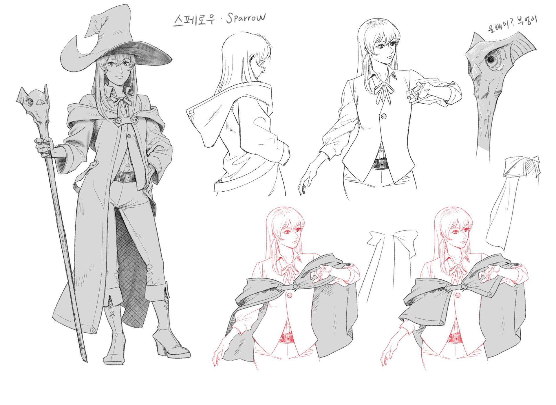 Artstation Original Character Design Mingu Choi Character Design Art Reference Character