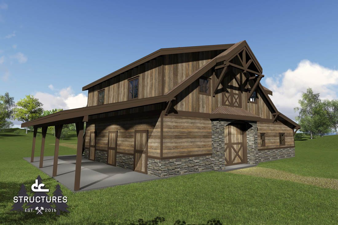 Barn Home Kit With Timber Trusses In Bentonville, Arkansas