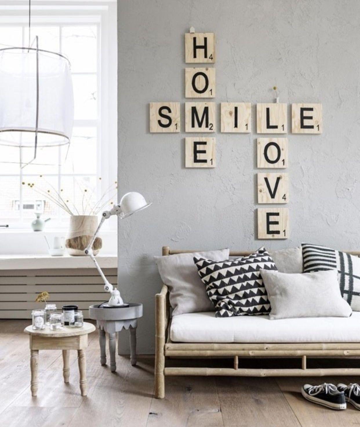 Home Smile Love Scrabble   Details   Pinterest