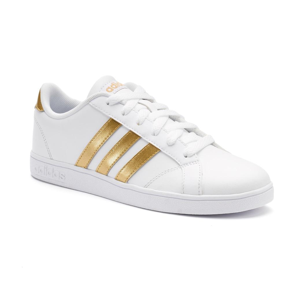 adidas NEO Baseline Kid's Shoes | Adidas neo, White, gold ...