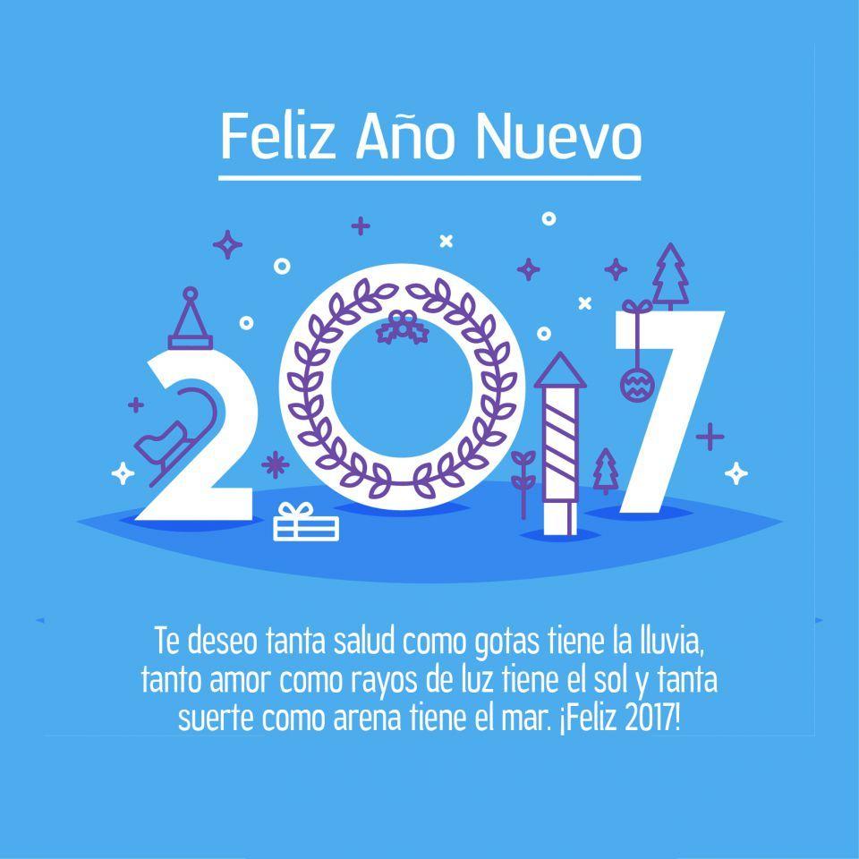 Mensajes a o nuevo 2017 deseos para twitter facebook - Felicitaciones ano 2017 ...