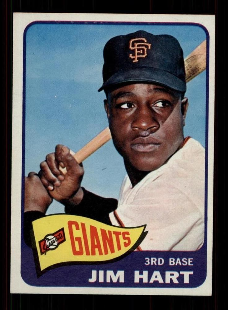 1965 Topps Baseball #395 Jim Ray Hart (Giants) STARXCARDS 7.5  NM+  (CS19624) #Giants