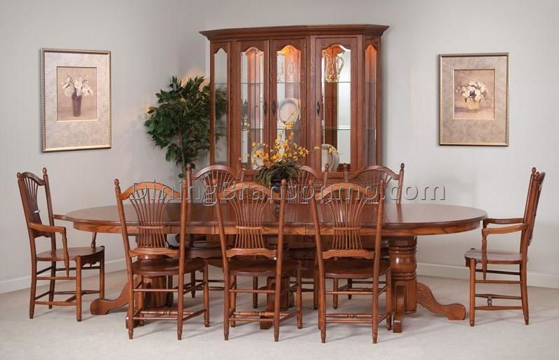 The Ideal Thanksgiving Table Beautiful Hardwood Scranton Triple Pedestal Dining Can Seat Over 14 Guests With Ease