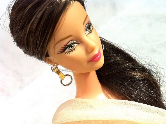 Doll Jewelry silver and gold tone earrings