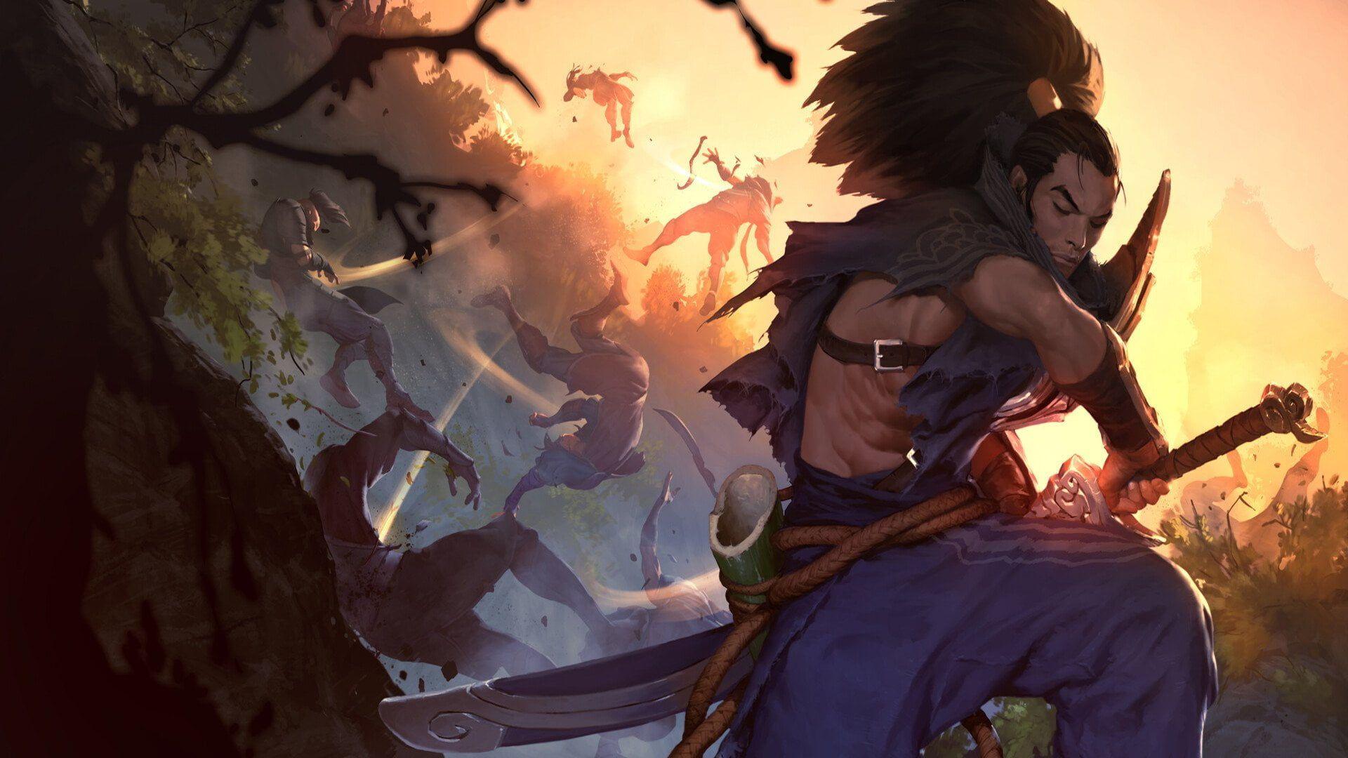 Legends Of Runeterra Yasuo League Of Legends 1080p Wallpaper Hdwallpaper Desktop