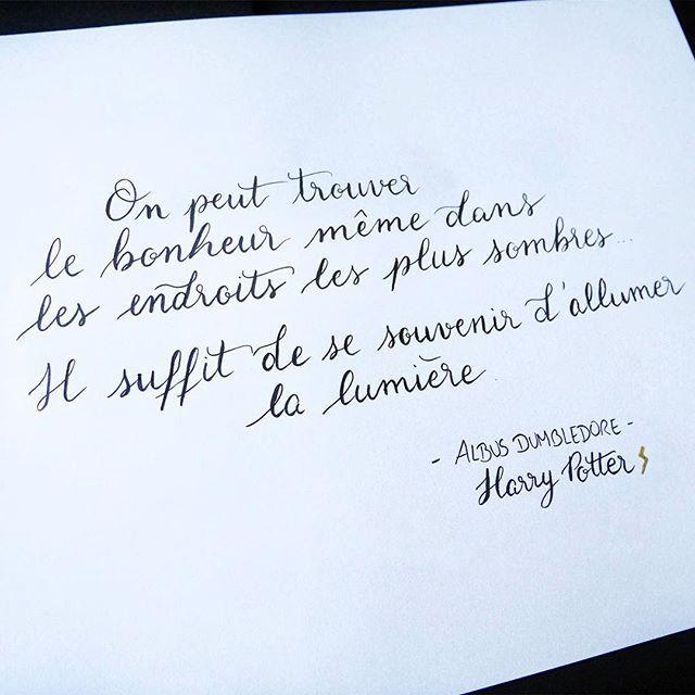 Ma Citation Preferee D Albus Dumbledore Pour La Journee Harry Potter Du Challenge Calligralivre Phrase Tattoos Words Lettering