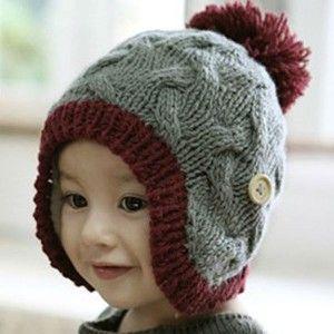 13 Bonitos gorros tejidos para invierno (4) Sombreros Tejidos Para Niños 0697cd3f502
