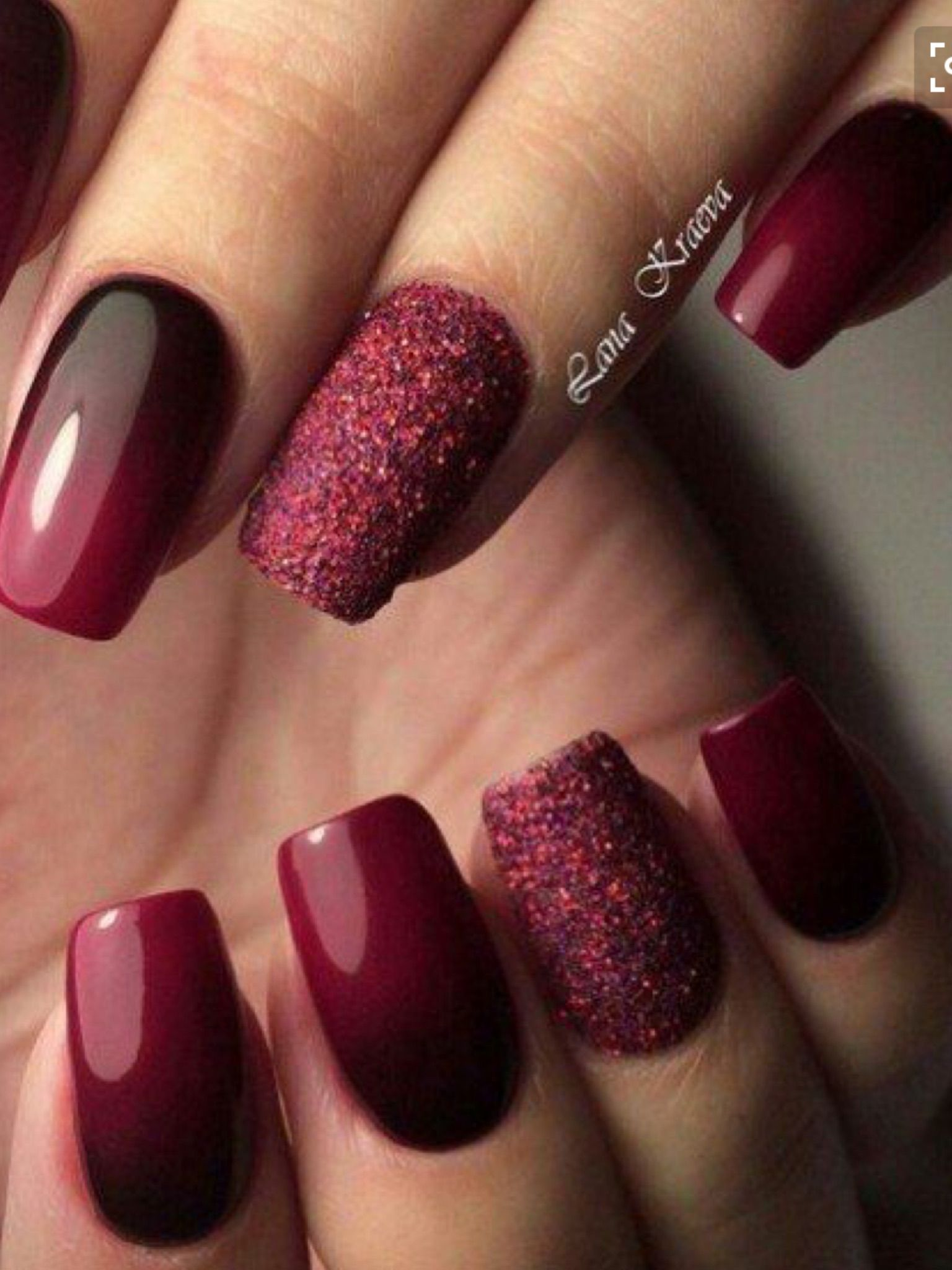 Pin By Vanessa Day On Nails Manicure Nail Designs Nail Art Ombre Burgundy Nails