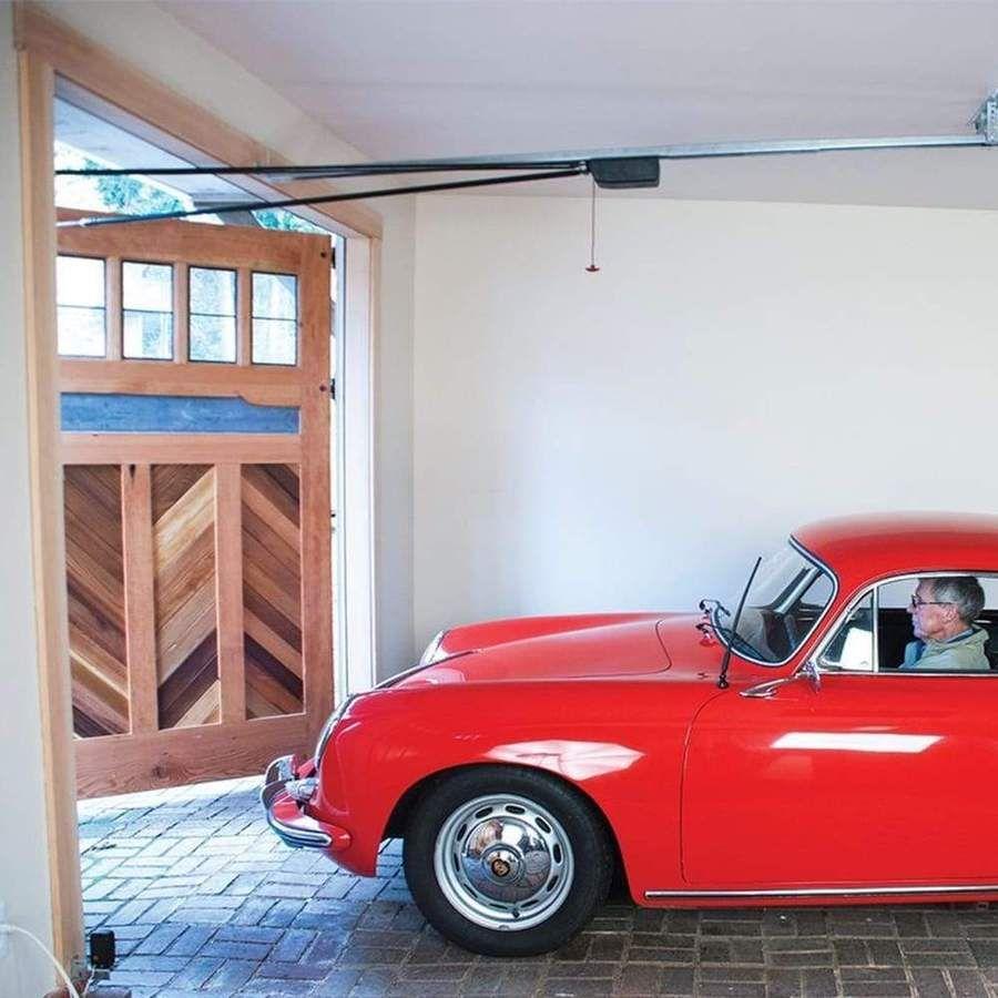 Fremont Ceiling Mounted Outswing Garage Door Opener Aocm In 2020 Swing Out Garage Doors Garage Doors Carriage Doors