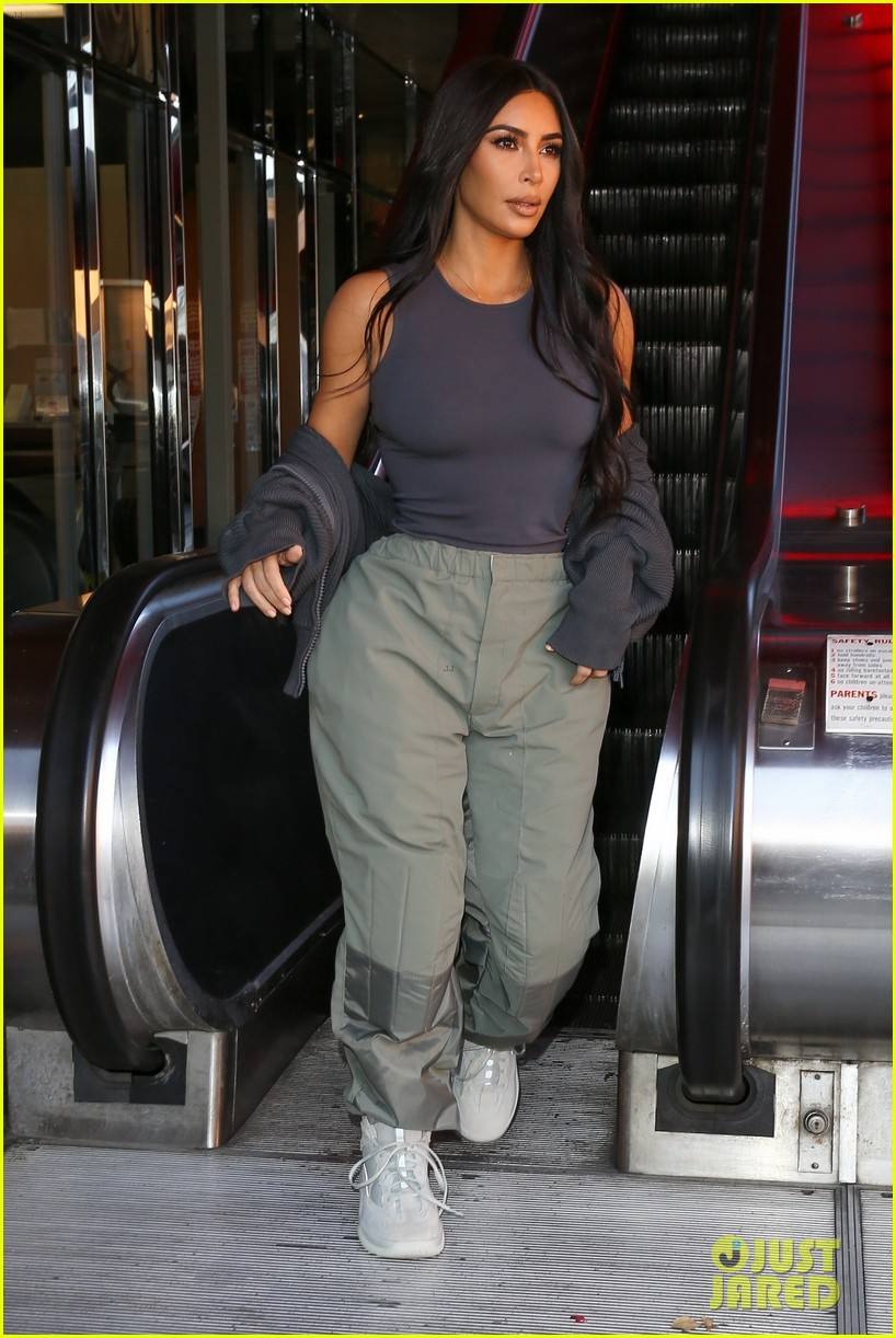 Kim Kardashian Keeps It Comfy for Lunch Outing in Calabasas