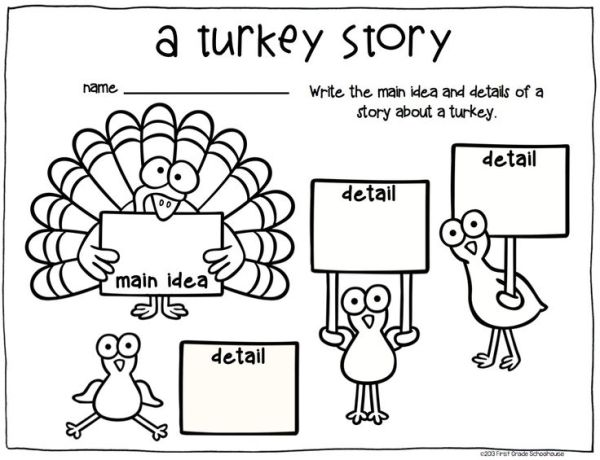 Thanksgiving Writing for Kinders. $ Kindergarten writing