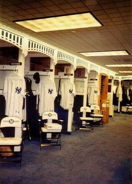 07afb3a3 Clubhouse at Old Yankee Stadium. Clubhouse at Old Yankee Stadium New York  Yankees Baseball ...