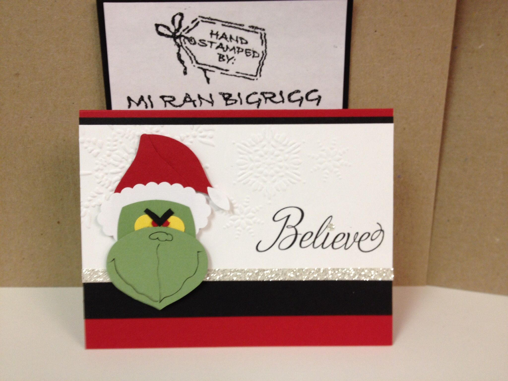 Stampin Up Grinch Punch Art Grinch Christmas Cards Punch Art Cards Punch Art