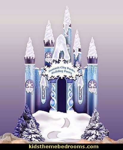 ice castle decorating prop-winter themed frozen party props