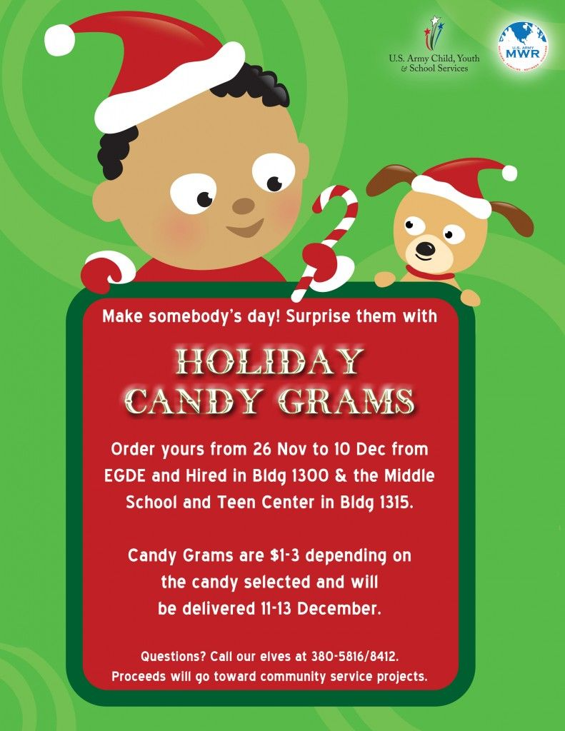 Holiday Candy Grams For Sale through CYSS (With images ...