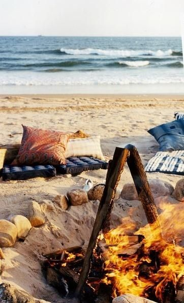 Campfire at the beach!