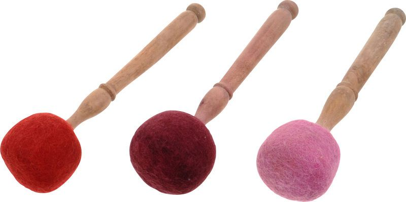 Thomann Red Felt Mallet S available: thomann.de #mediation #musictherapy #intruments