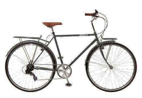 City Bike Commuting Bicycle 700c Grey 8 Speed Shimano Altus