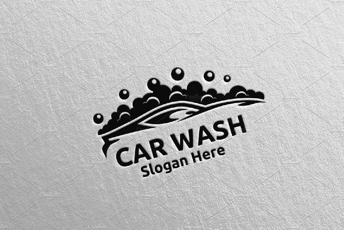 Car wash logo cleaning car logo 17 by denayunebgt on