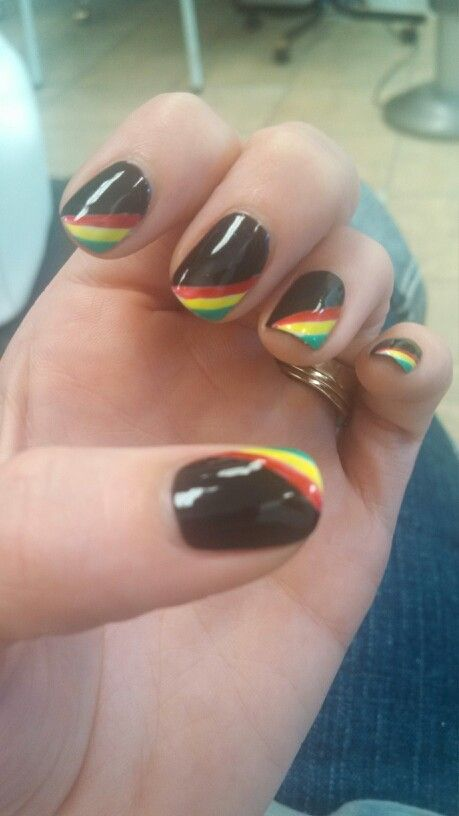 Jamaican nails | Nails by Tu | Pinterest | Jamaica nails, Makeup and ...