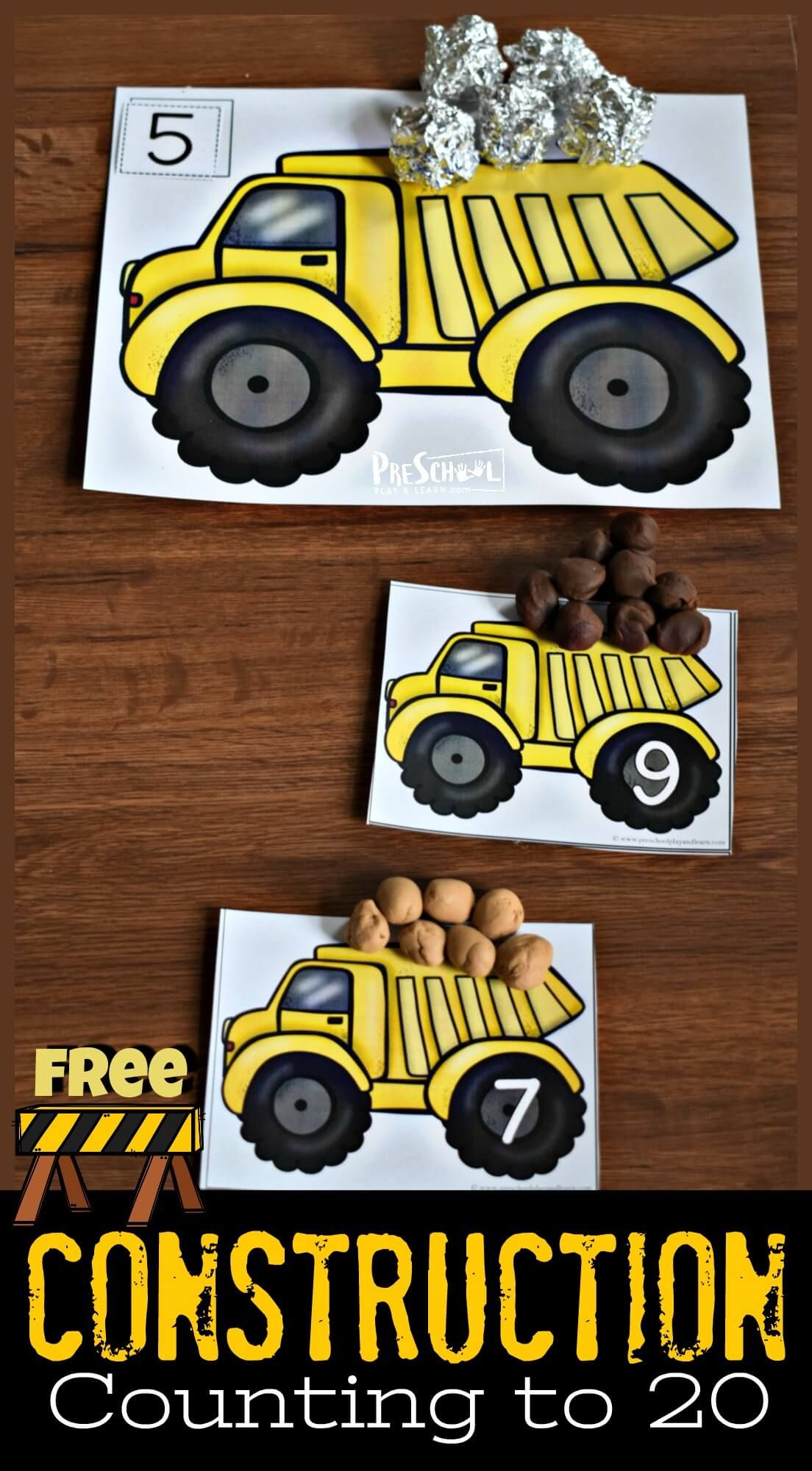 Free Construction Counting To 20