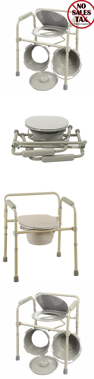 Toilet Frames and Commodes: Adult Commode Chair Raised Over Toilet ...