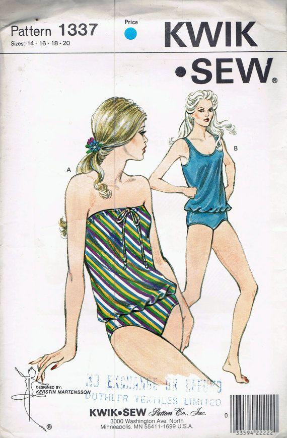 a681a54935525 UNCUT Size 14-20 Misses 2 Piece Strapless by BusyBeaverBoutique Kwik Sew  Patterns