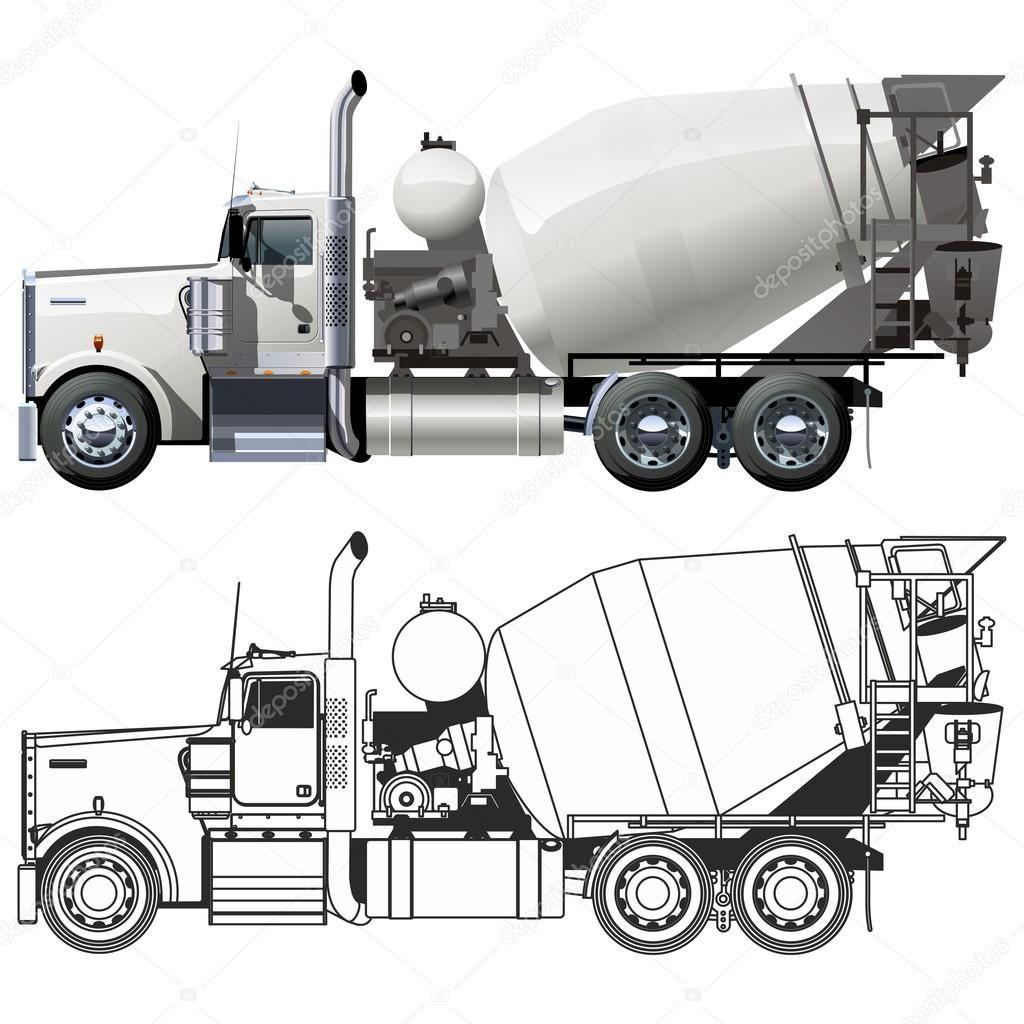 Descargar Camiones Hormigonera Vector Ilustracion De Stock 8894351 Camion Hormigonera Camiones Kenworth Camiones