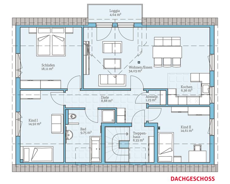 Variant 35 235 haus und grundriss pinterest haus for Bauen zweifamilienhaus grundriss
