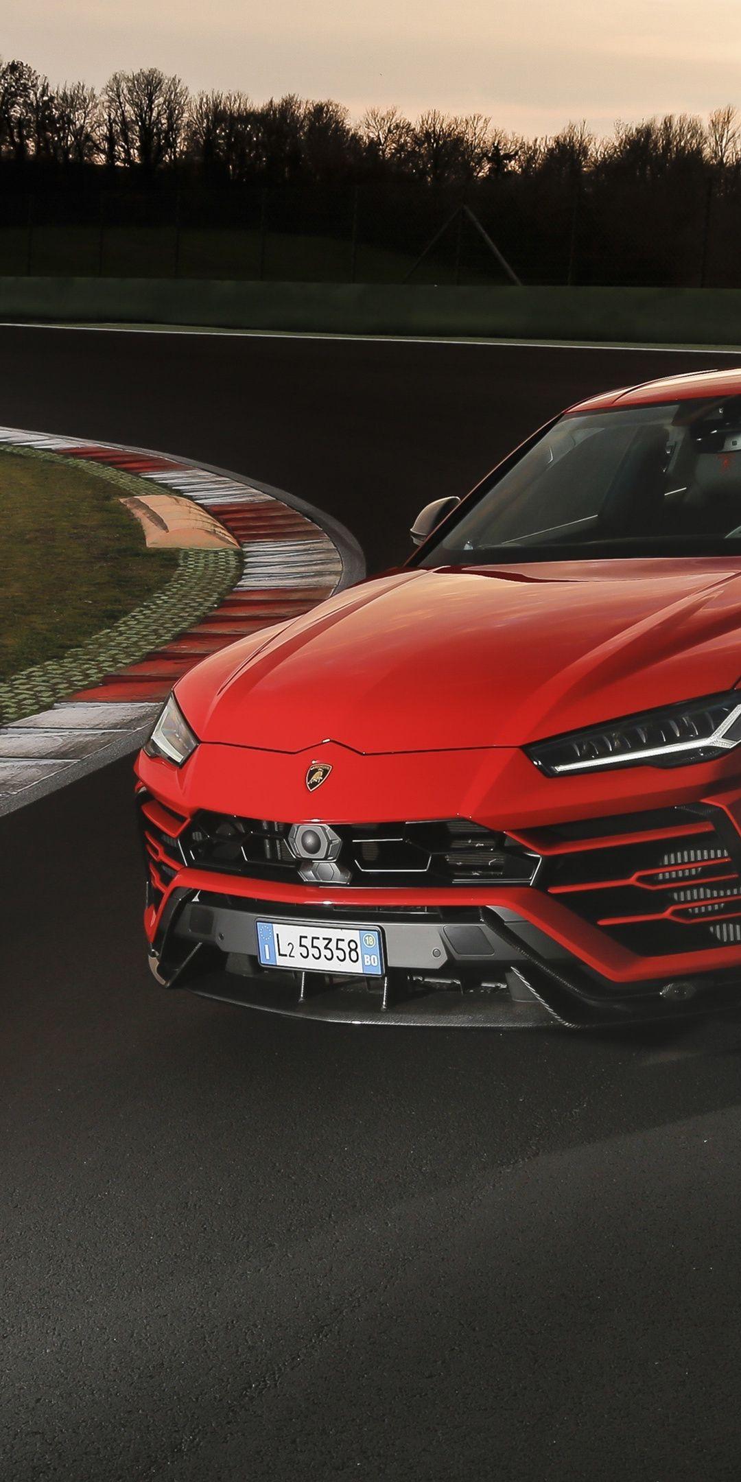 On Road Red Lamborghini Urus 1080x2160 Wallpaper Lamborghini
