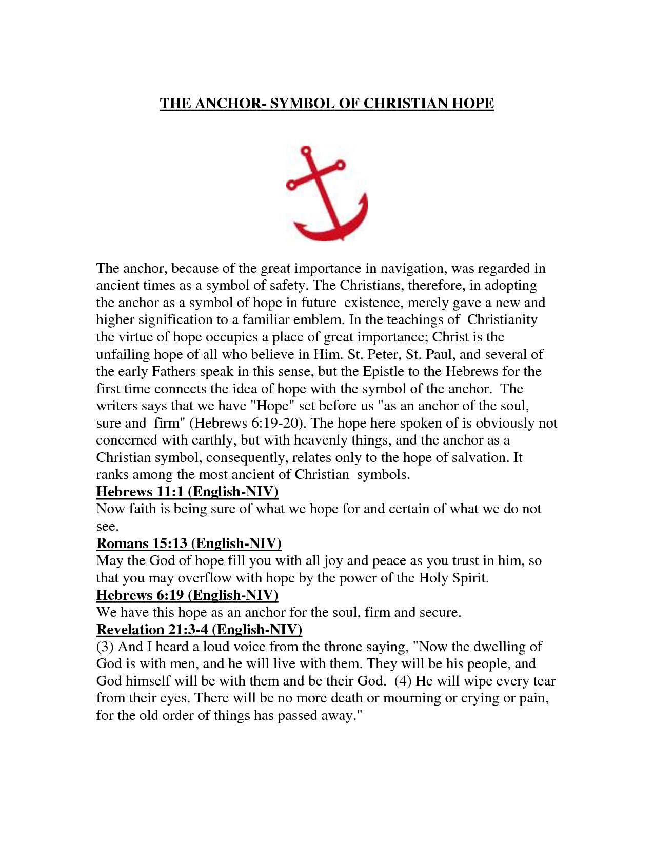 Christian Symbol For Hope Faith Pinterest Symbols Christian