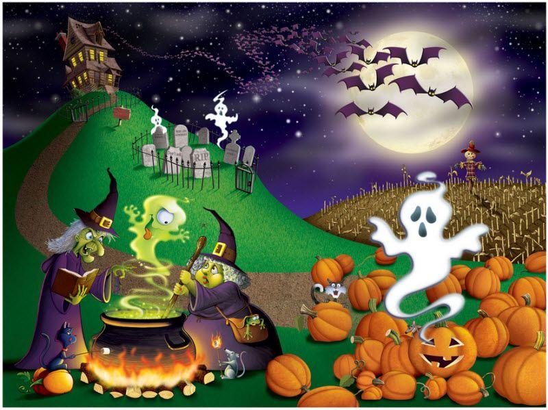 Halloween Wall Mural Halloween Pinterest Wall murals