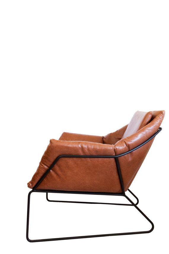 Enjoyable Mid Century Modern Leather Metal Frame Chair By Lamtechconsult Wood Chair Design Ideas Lamtechconsultcom